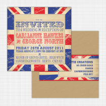 Union Jack Flat Card Invitation