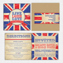 Union Jack Folded Card Invitation
