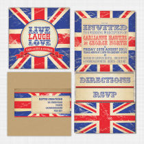 Union Jack Pocket Wallet Invitation Invitation