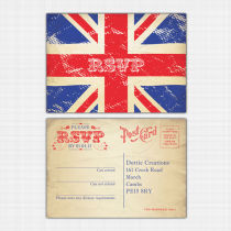 Union Jack RSVP Reply Card