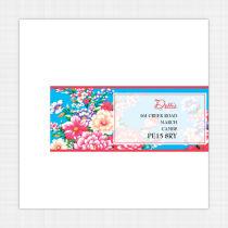Vintage Floral Envelope Label