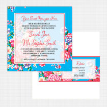 Vintage Floral Flat Card Invitation
