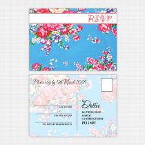 Vintage Floral RSVP Card
