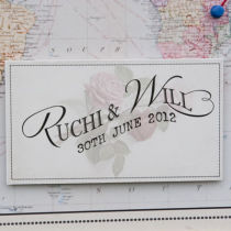 Vintage Travel Table Seating Plan A