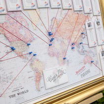 Vintage Travel Table Seating Plan B