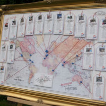 Vintage Travel Table Seating Plan L