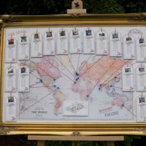 Vintage Travel Table Seating Plan M