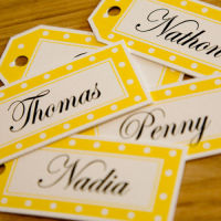 DAISY LUGGAGE TAG PLACE SETTINGS