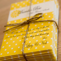 DAISY SEED PACKET WEDDNG FAVORS